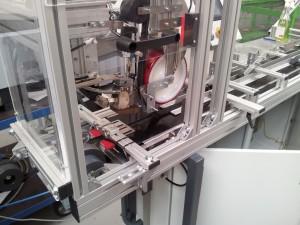 Speciale strookverlijming machine